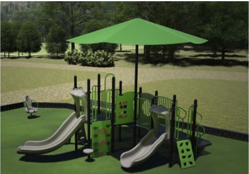 return polymers, ringler field, dk play zone, tot lot, little kickers playhouse